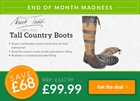 Mark Todd Tall Country Boots - ONLY £99.99